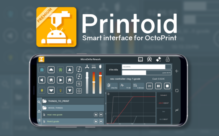 Smart interface for OctoPrint